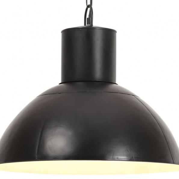Hængelampe 25 W rund 48 cm E27 mat sort
