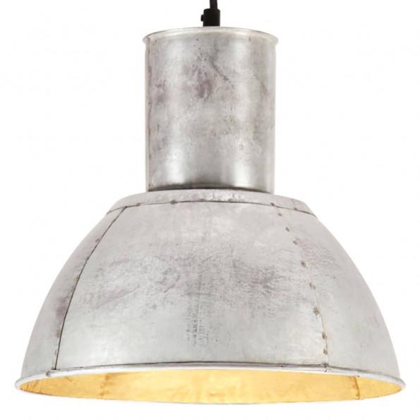 Hængelampe 25 W rund 28,5 cm E27 sølvfarvet