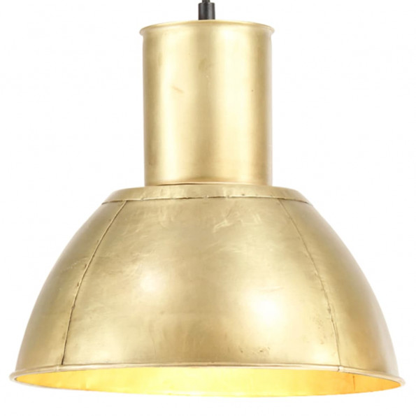 Hængelampe 25 W rund 28,5 cm E27 messingfarvet