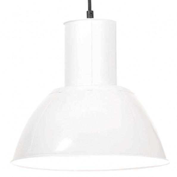 Hængelampe 25 W rund 28,5 cm E27 hvid