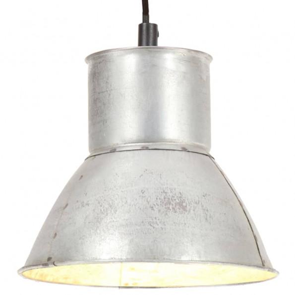 Hængelampe 25 W rund 17 cm E27 sølvfarvet