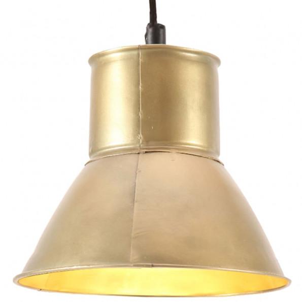 Hængelampe 25 W rund 17 cm E27 messingfarvet