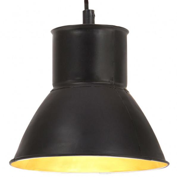 Hængelampe 25 W rund 17 cm E27 sort