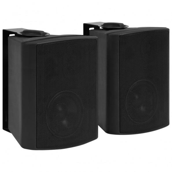 Væghængte stereohøjttalere 2 stk. indendørs/udendørs 100 W sort