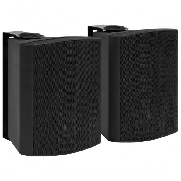 Væghængte stereohøjttalere 2 stk. indendørs/udendørs 120 W sort