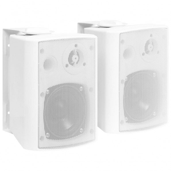 Væghængte stereohøjttalere 2 stk. indendørs/udendørs 80 W hvid