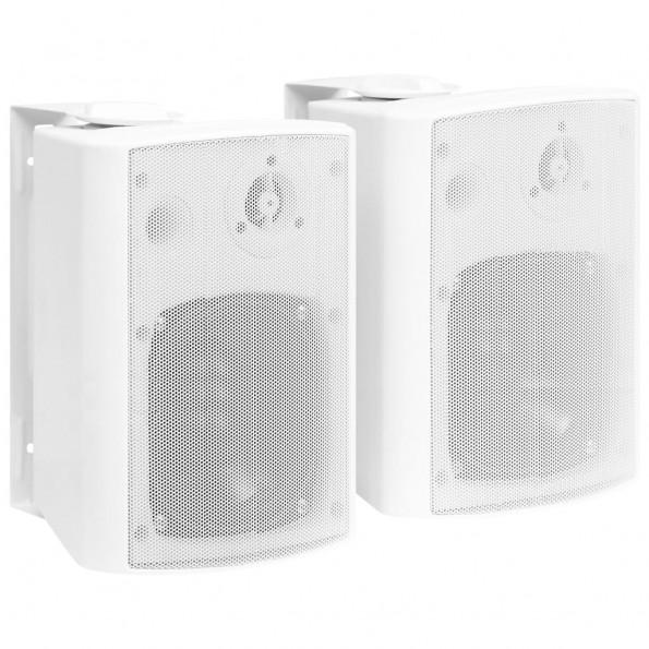 Væghængte stereohøjttalere 2 stk. indendørs/udendørs 100 W hvid