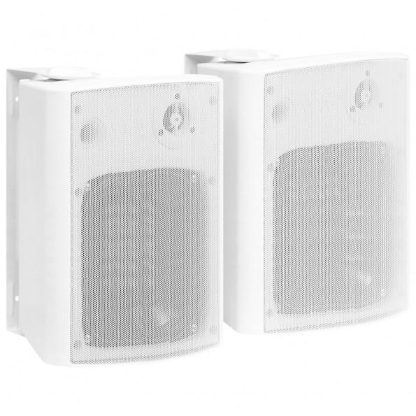 Væghængte stereohøjttalere 2 stk. indendørs/udendørs 120 W hvid