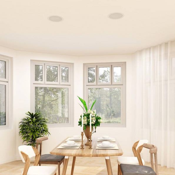 Indbygningshøjttalere til væg og loft 2 stk. med diskant 240 W