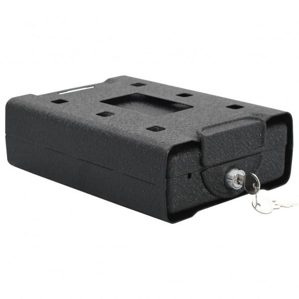Sikkerhedsboks til bil 21,8x16x7 cm stål sort
