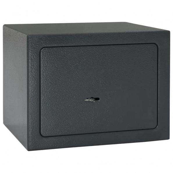 Mekanisk sikkerhedsboks 23x17x17 cm stål mørkegrå