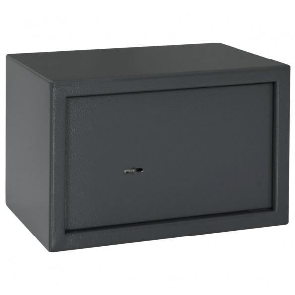 Mekanisk sikkerhedsboks 31x20x20 cm stål mørkegrå