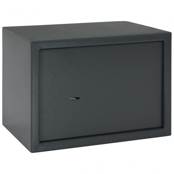 Mekanisk sikkerhedsboks 35x25x25 cm stål mørkegrå