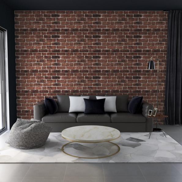 3D-vægpaneler 11 stk. murstensdesign EPS mørkebrun