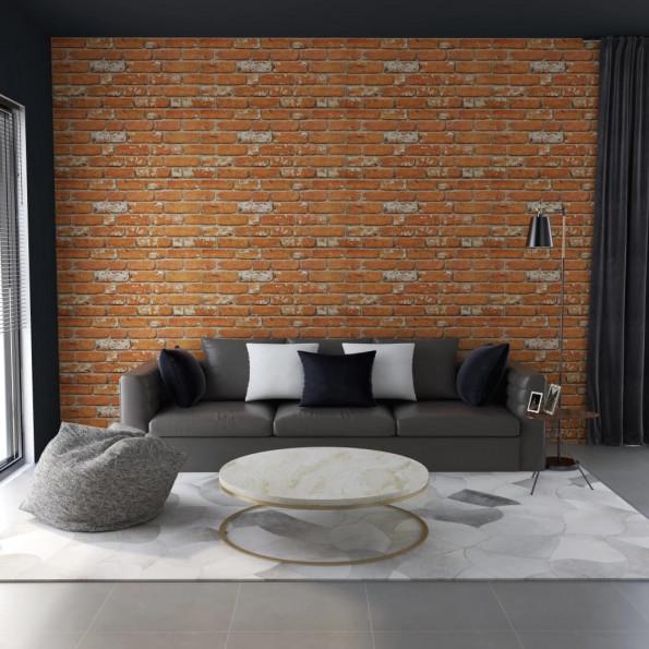 3D-vægpaneler 11 stk. murstensdesign EPS lysebrun