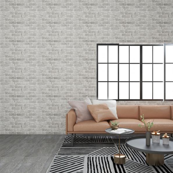 3D-vægpaneler 11 stk. murstensdesign EPS lysegrå