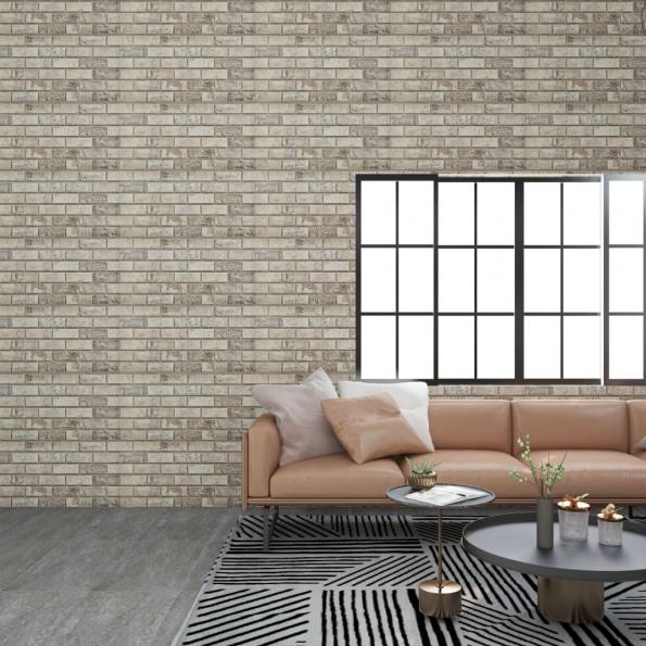 3D-vægpaneler 11 stk. EPS murstensdesign sandfarvet