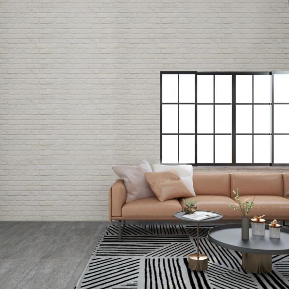 3D-vægpaneler 11 stk. EPS murstensdesign hvid