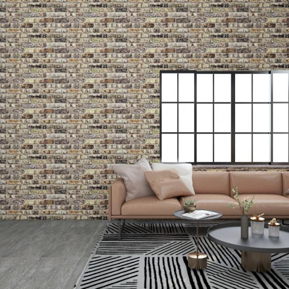 3D-vægpaneler 11 stk. EPS murstensdesign flerfarvet