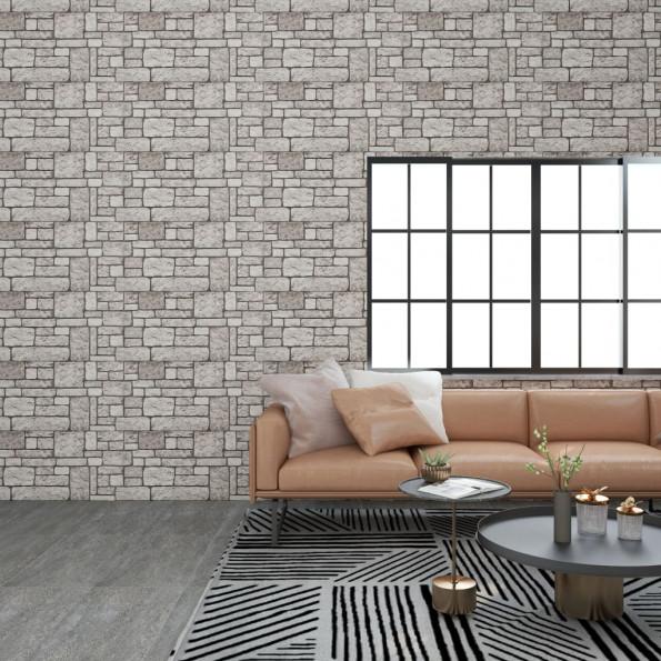 3D-vægpaneler 11 stk. murstensdesign EPS grå