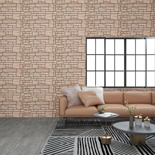 3D-vægpaneler 11 stk. EPS murstensdesign beige