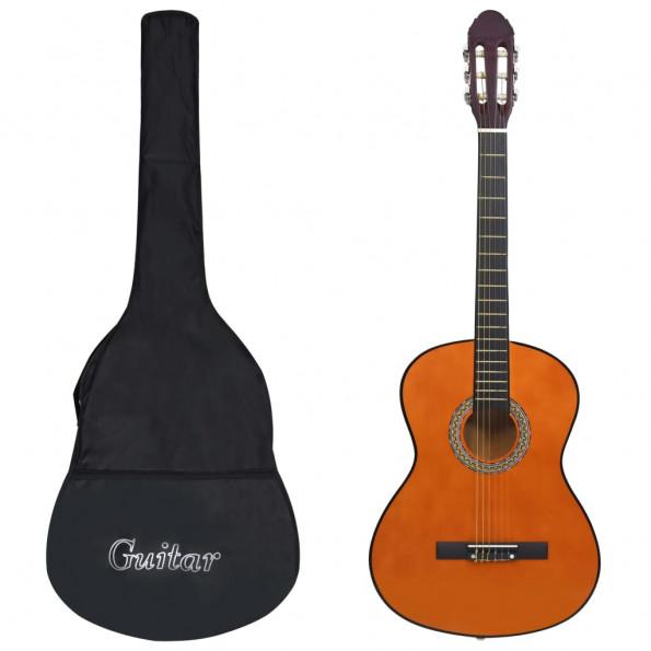 """Klassisk guitar med taske for begyndere 4/4 39"""""""
