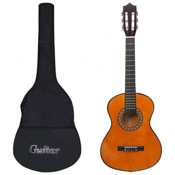 """Klassisk guitar med taske for begyndere og børn 1/2 34"""""""