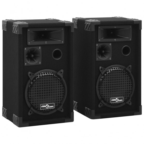 Professionelle passive hi-fi-scenehøjttalere 2 stk. 800 W sort