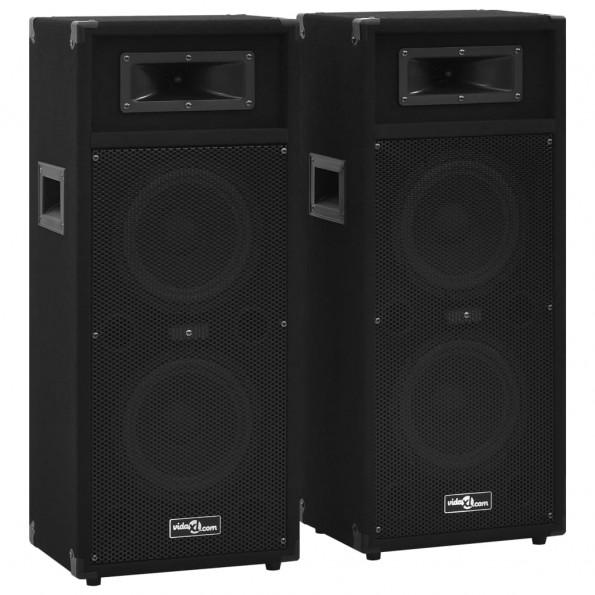 Professionelle passive hi-fi-scenehøjttalere 2 stk. 1000 W sort
