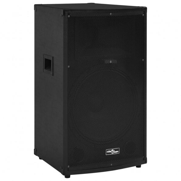 Prof. passiv hi-fi-scenehøjttalere 43x43x75cm 1200 W sort