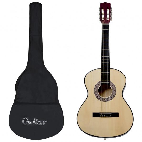 """Klassisk guitar med taske for begyndere 3/4 36"""""""