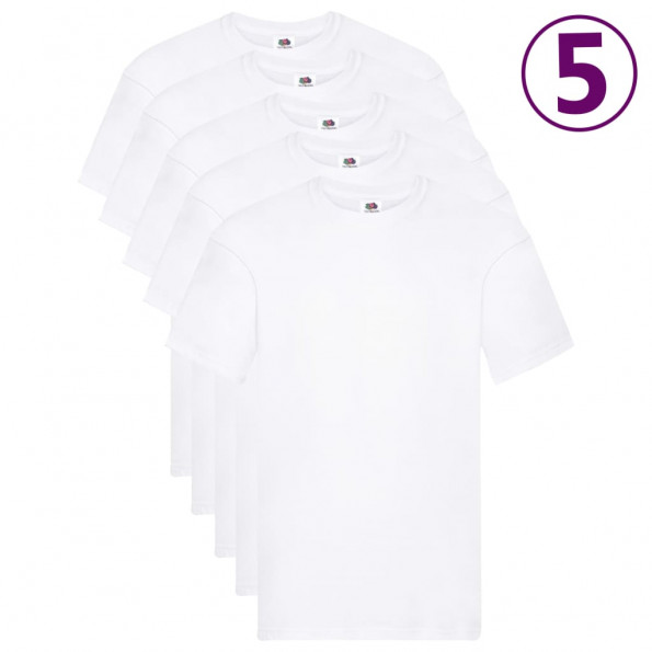 Fruit of the Loom originale T-shirts 5 stk. str. 4XL bomuld hvid