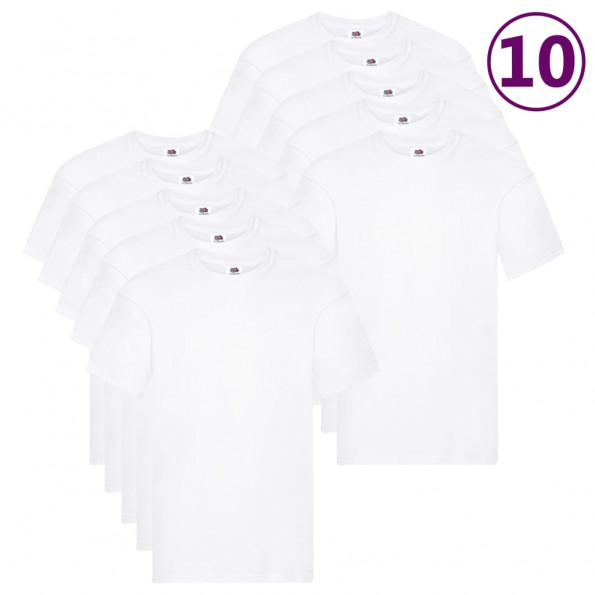 Fruit of the Loom originale T-shirts 10 stk. str. XL bomuld hvid