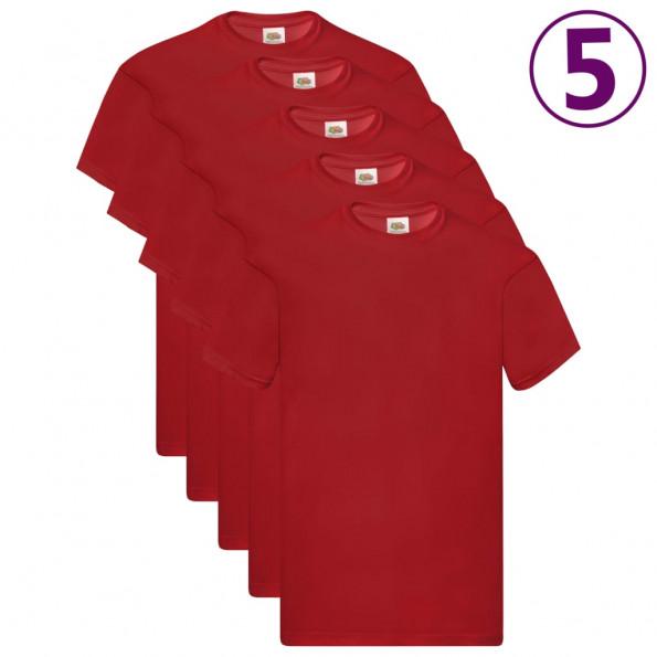 Fruit of the Loom originale T-shirts 5 stk. str. 3XL bomuld rød