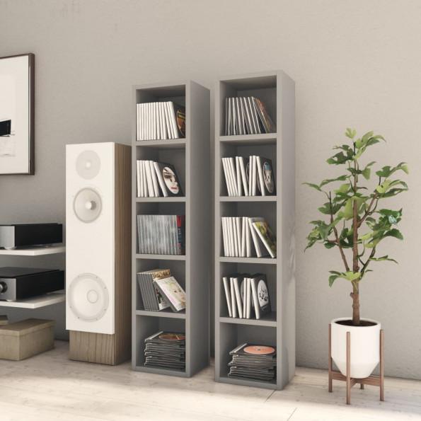CD-reoler 2 stk. 21x16x93,5 cm spånplade grå