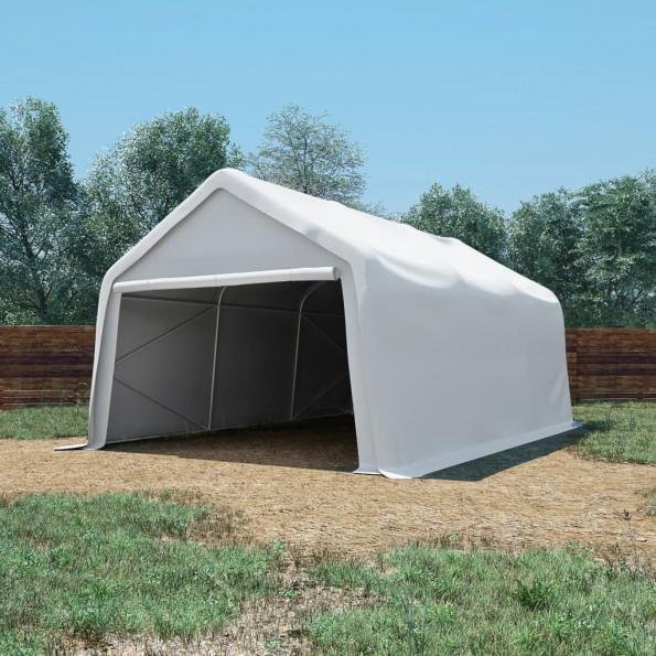 Opbevaringstelt 550 g/m² 4x6 m PVC hvid